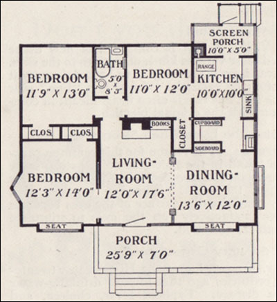 1909 Bungalow Plan