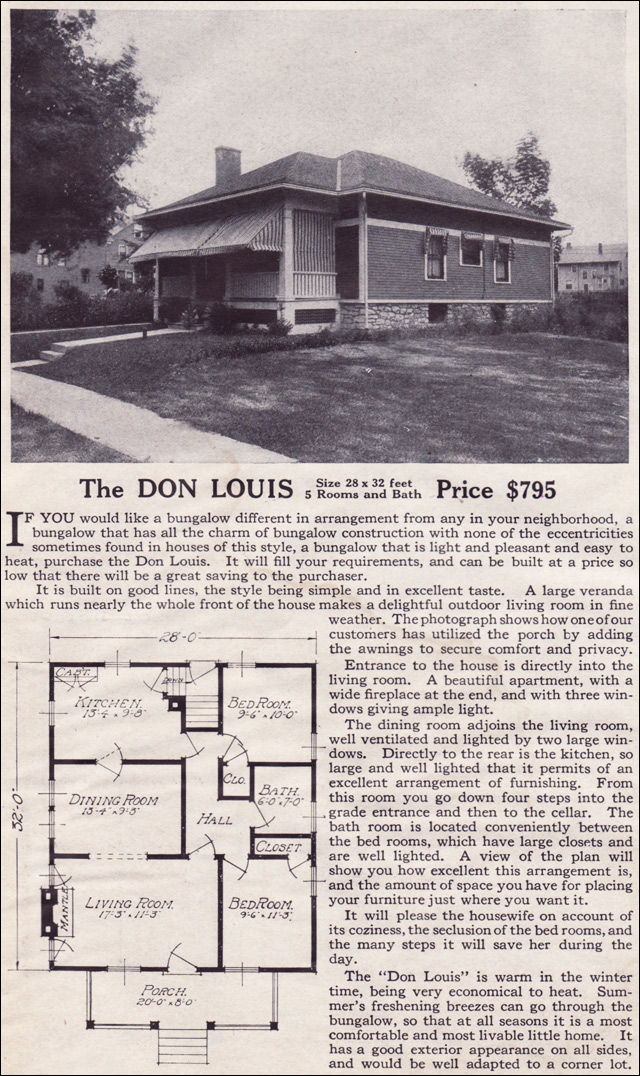 1916 Lewis-Built Homes - The Don Louis