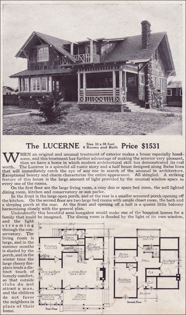 1916 Lewis Homes - The Lucerne