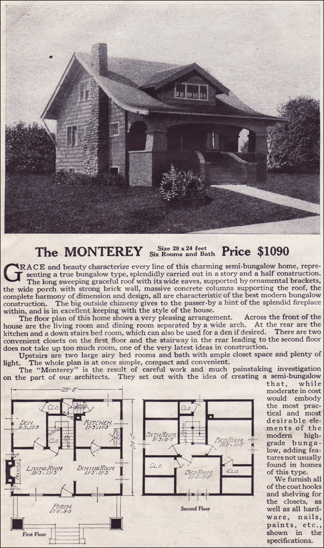 1916 Lewis-Built Homes - The Monterey