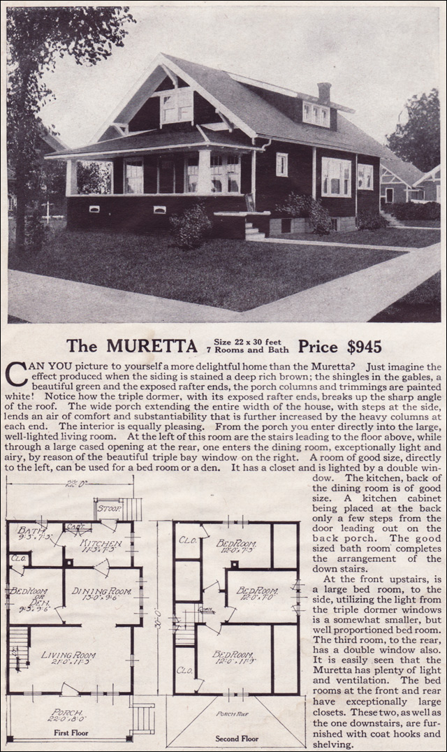 1916 Lewis-Built Homes - The Muretta