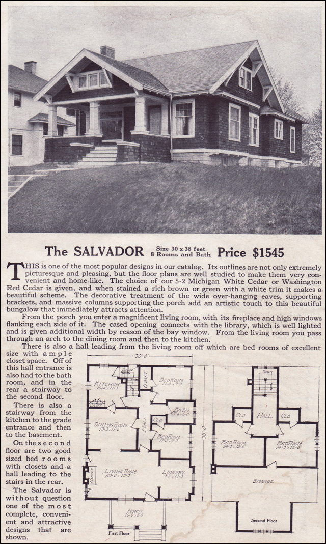 1916 Lewis-Built Homes - The Salvador