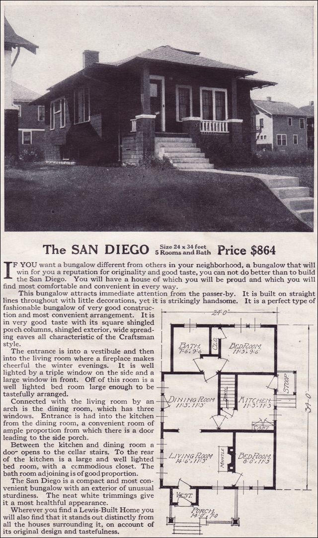 1916 Lewis-Built Homes - The San Diego
