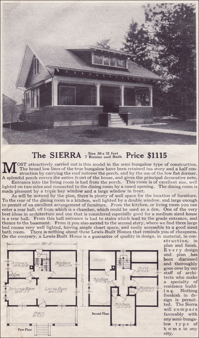 1916 Lewis-Built Homes - The Sierra