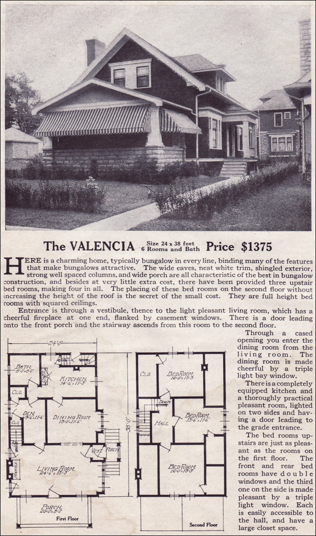 1916 Lewis-Built Homes - The Valencia