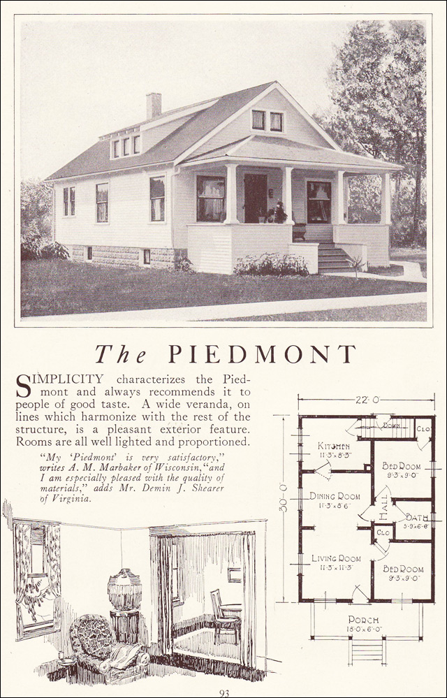 1922 Lewis Homes - The  Piedmont